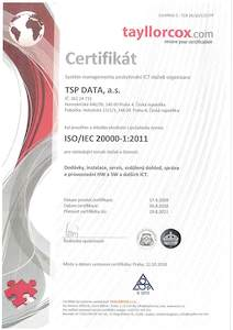 Certifikát ISO/IEC 20000
