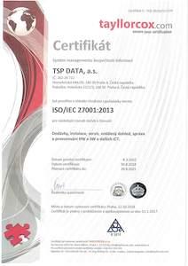 Certifikát ISO/IEC 27001